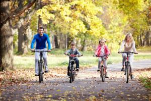 Przejażdzka rowerowa z rodziną